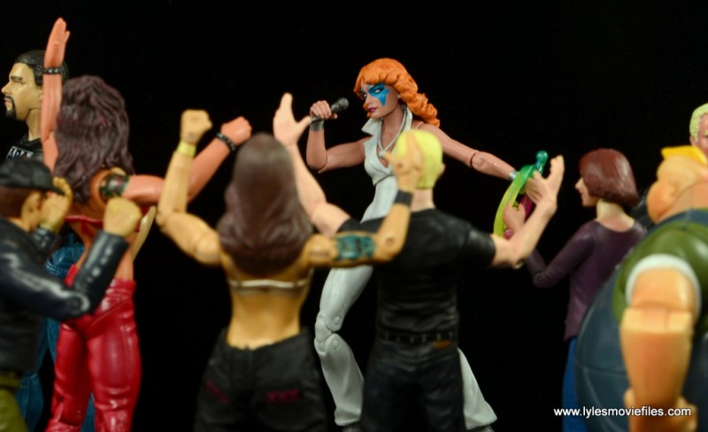 Marvel Legends Dazzler figure review -performing