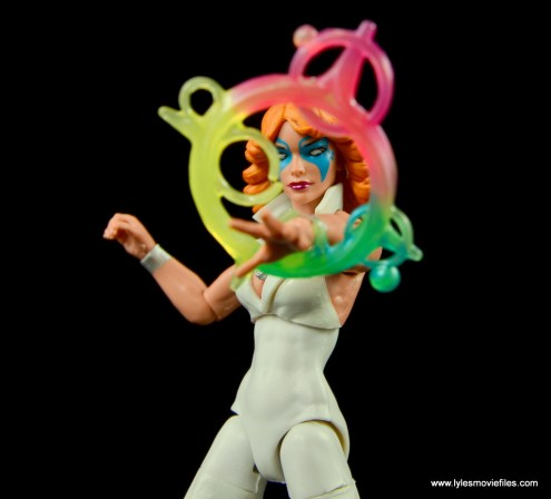 Marvel Legends Dazzler figure review -strobe effect