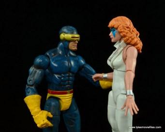 Marvel Legends Dazzler figure review -talking to Cyclops