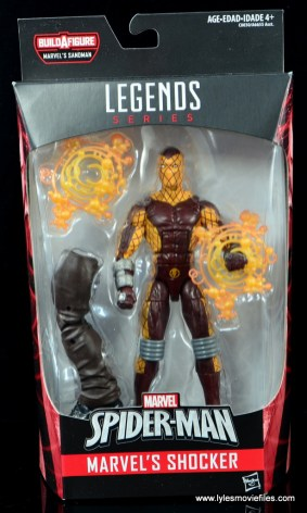 Marvel Legends Shocker figure review - package front
