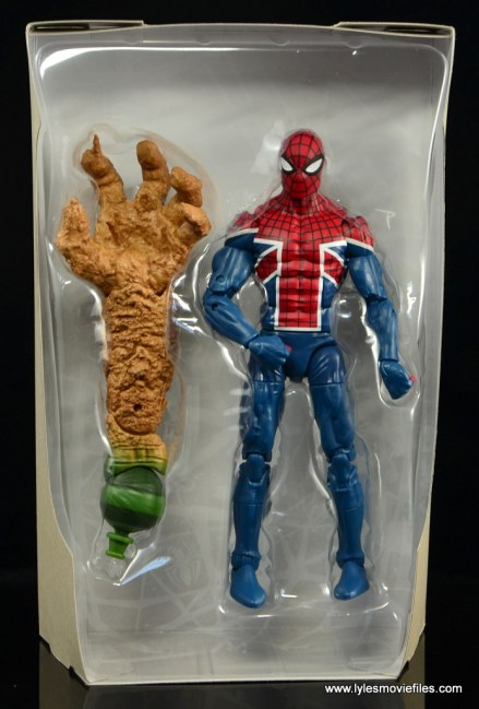 Marvel Legends Spider-Man UK figure review - figure in tray
