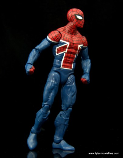 Marvel Legends Spider-Man UK figure review - looking to the right