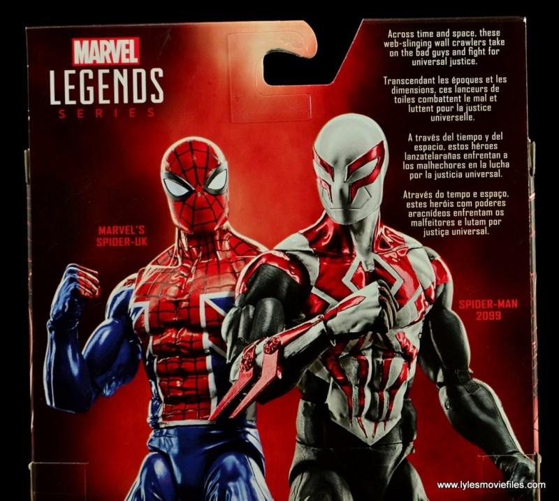 Marvel Legends Spider-Man UK figure review - package bio