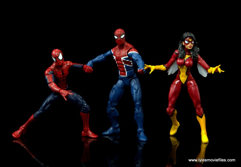 Marvel Legends Spider-Man UK figure review - ready for battle with Spider-Man and Spider-Woman