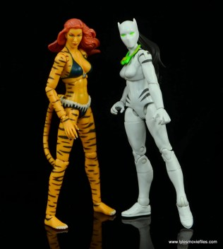 Marvel Legends White Tiger figure review -hanging with Tigra