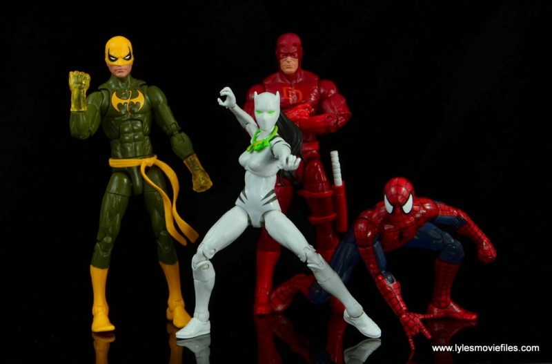 Marvel Legends White Tiger figure review -with Iron Fist, Daredevil and Spider-Man