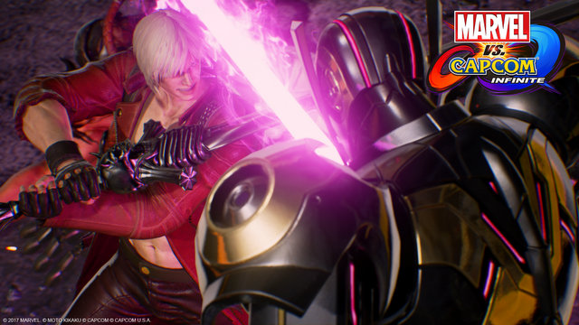 Marvel vs Capcom Infinite Dante vs Ultron