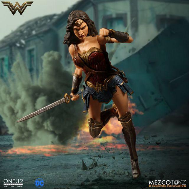 Mezco Toyz One 12 Wonder Woman figure - running