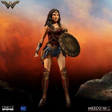 Mezco Toyz One 12 Wonder Woman figure - sunset backdrop