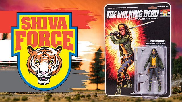 SDCC 2017 exclusive Shiva Force The Walking Dead - Michonne