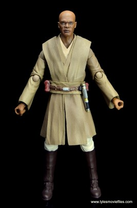 SH Figuarts Mace Windu figure review - front side