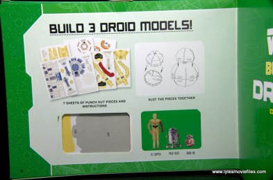 Star Wars Builders Droids set -droid sheet page