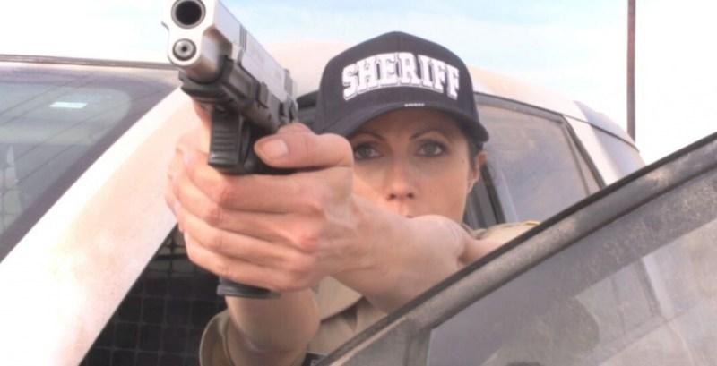 Tsunambee movie - Stacy Pederson as Sheriff Feargo