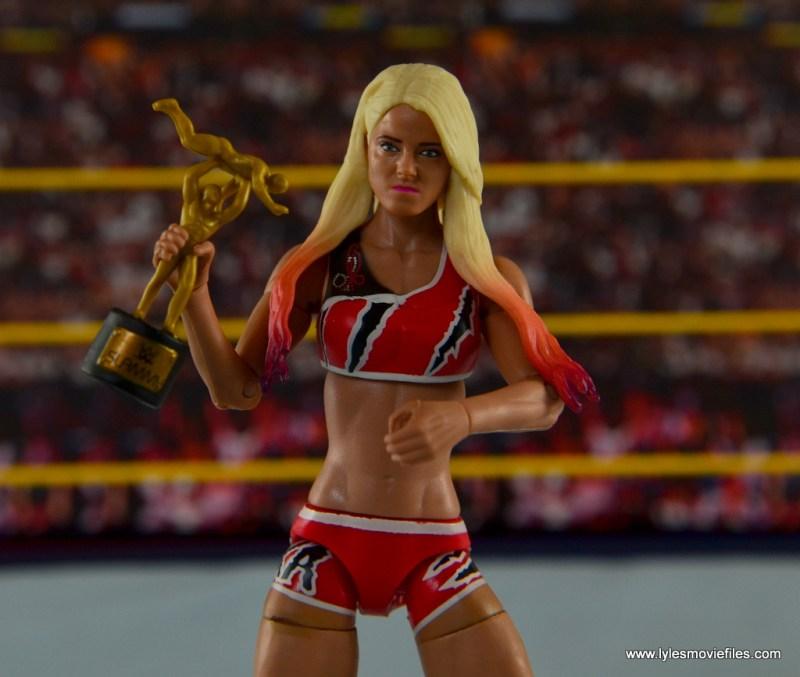 WWE Basic Alexa Bliss figure review -holding Slammy Award