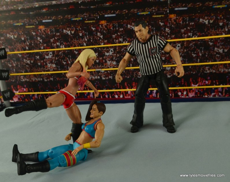 WWE Basic Alexa Bliss figure review - kicking Bayley