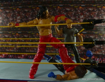 WWE Defining Moments Shinsuke Nakamura figure review -corner stomp to AJ Styles