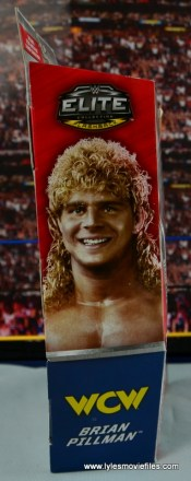 WWE Elite Flyin Brian figure review -package side