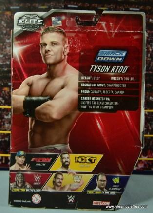 WWE Elite Tyson Kidd figure review -package rear
