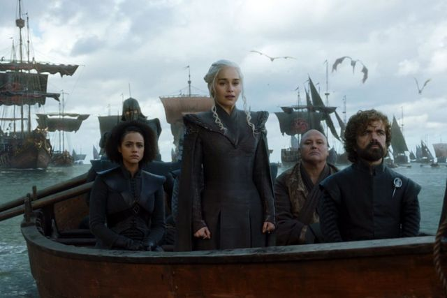 Game of Thrones Dragonstone - Missandei, Daenerys, Varys and Tyrion