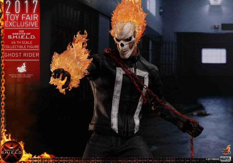 Hot Toys Agents of SHIELD Ghost Rider figure -chain and fireball