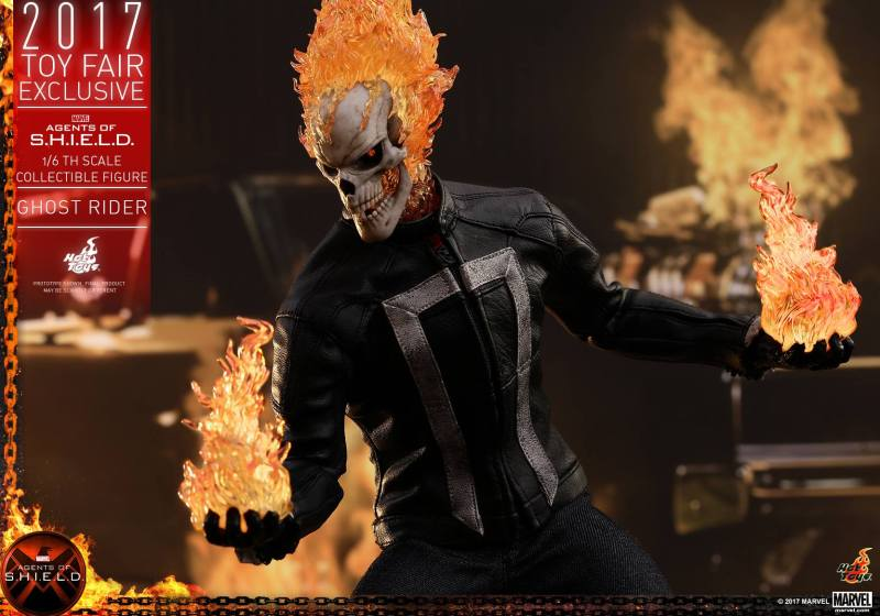 Hot Toys Agents of SHIELD Ghost Rider figure - channeling fireballs