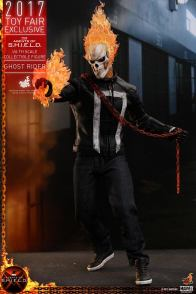 Hot Toys Agents of SHIELD Ghost Rider figure -with red chain