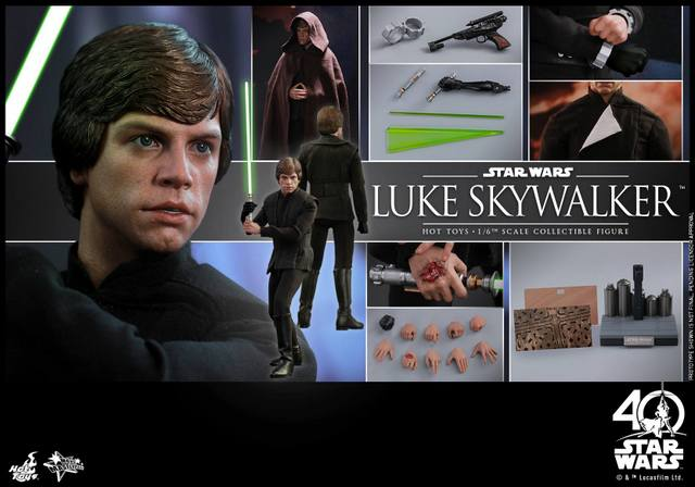 Hot Toys Jedi Luke Skywalker figure -collage