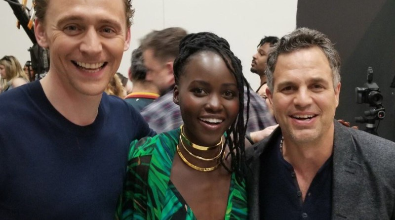 Tom Hiddleston, Lupita Nyong'o and Mark Ruffalo