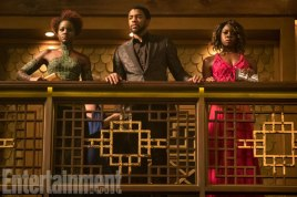 Marvel Black Panther movie pictures - Nakia, T'Challa and Okoye
