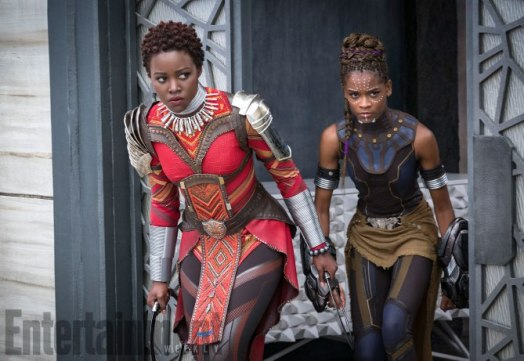 Marvel-Black-Panther-movie-pictures-Nakia-and-Shuri
