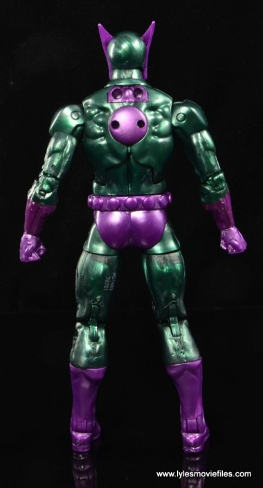 Marvel Legends Beetle figure review -rear