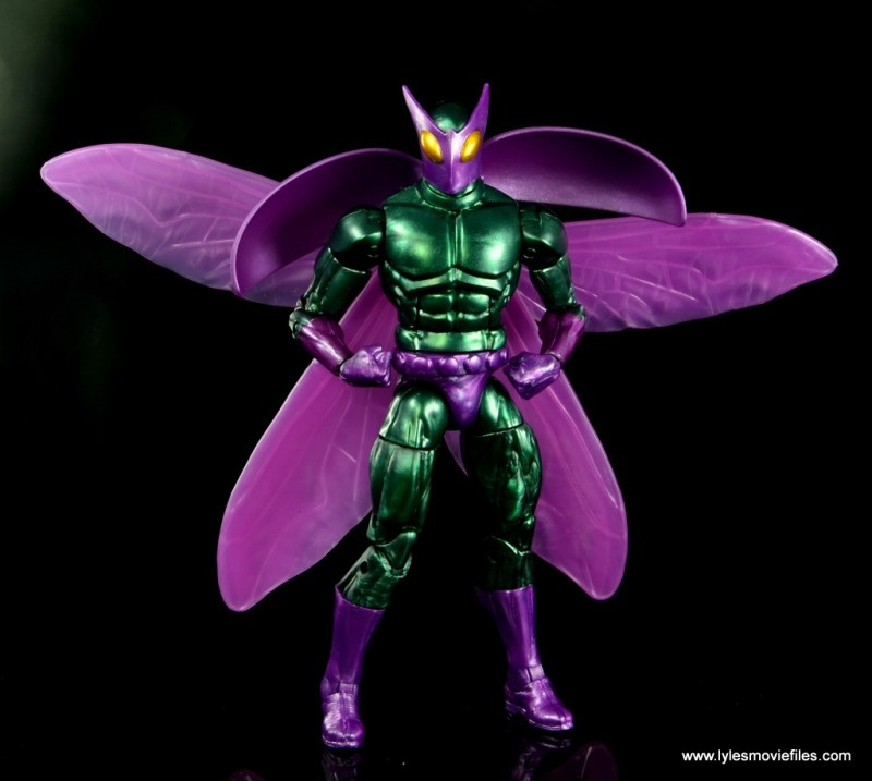 Marvel Legends Beetle figure review -wings out