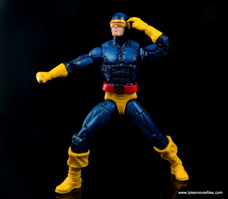 Marvel Legends Cyclops and Dark Phoenix figure review -Cyclops aiming
