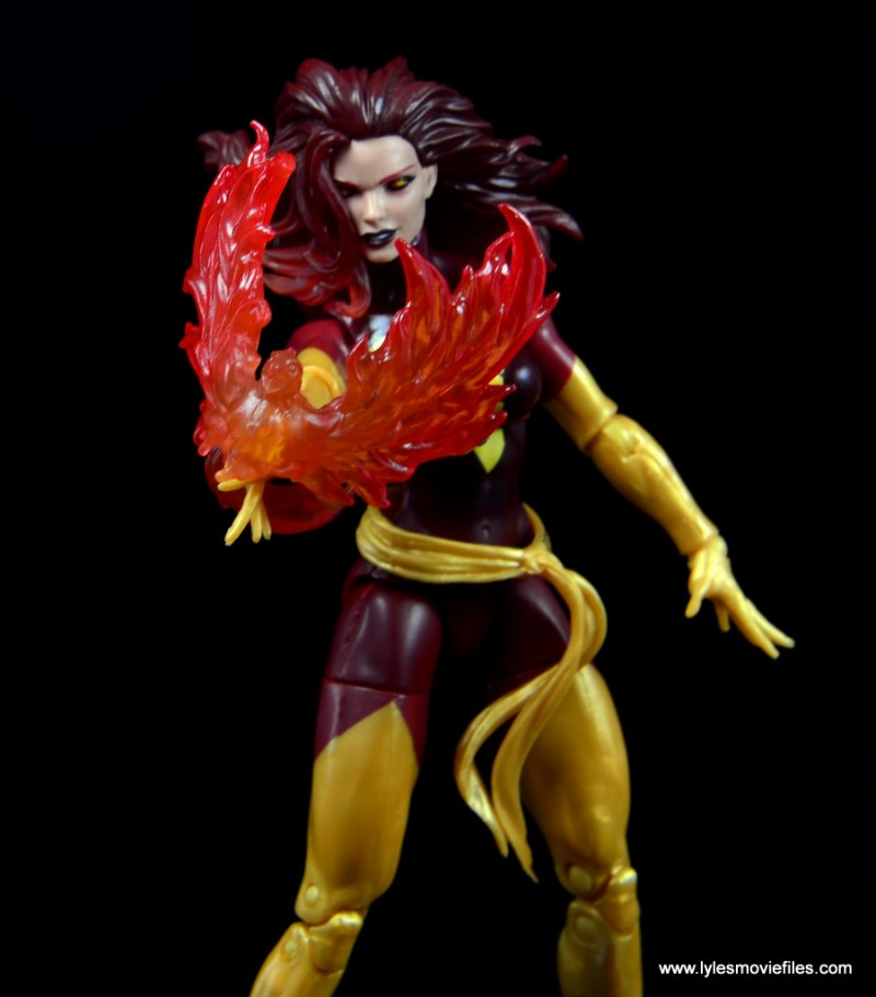 Marvel Legends Cyclops and Dark Phoenix figure review -Dark Phoenix flame bird