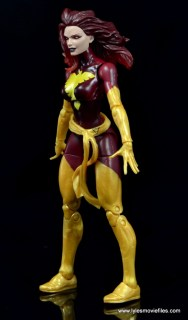 Marvel Legends Cyclops and Dark Phoenix figure review -Dark Phoenix left side