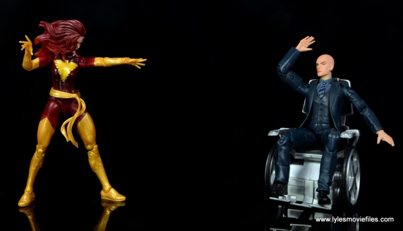 Marvel Legends Cyclops and Dark Phoenix figure review - Dark Phoenix vs Professor Xavier