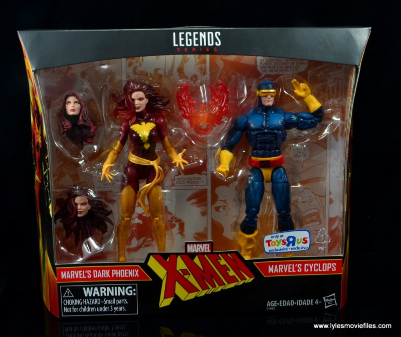 Marvel Legends Cyclops and Dark Phoenix figure review -front package