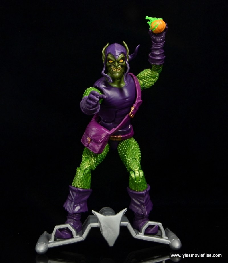 Marvel Legends Green Goblin figure review - on glider