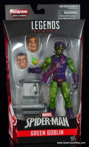 Marvel Legends Green Goblin figure review -package front