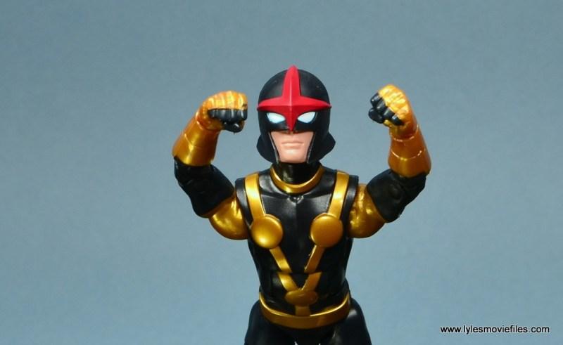 Marvel Legends Kid Nova figure review -flying