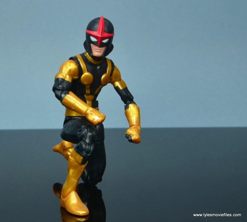 Marvel Legends Kid Nova figure review -kneeling