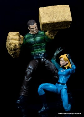 Marvel Legends Sandman figure review - about to crush Invisible Woman