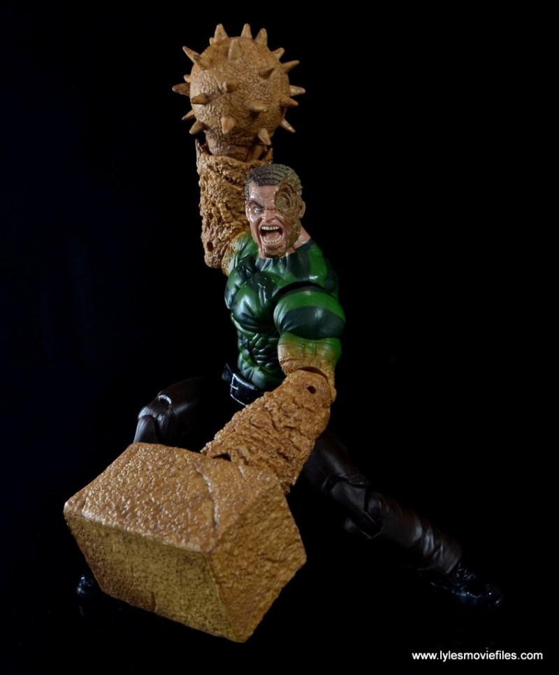 Marvel Legends Sandman figure review - spike and mallet combo
