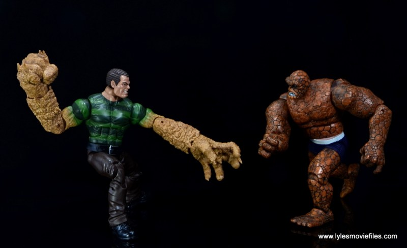 Marvel Legends Sandman figure review - vs The Thing