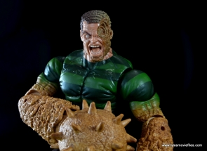 Marvel Legends Sandman figure review -wide damaged face