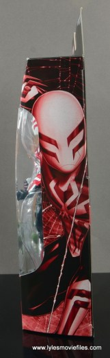 Marvel Legends Spider-Man 2099 figure review - package side