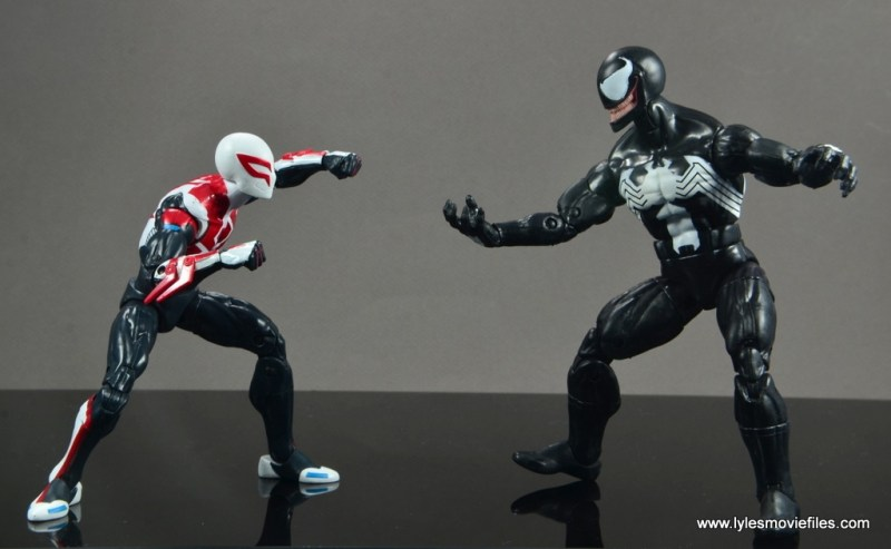 Marvel Legends Spider-Man 2099 figure review - vs Venom