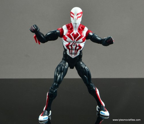 Marvel Legends Spider-Man 2099 figure review - wide stance