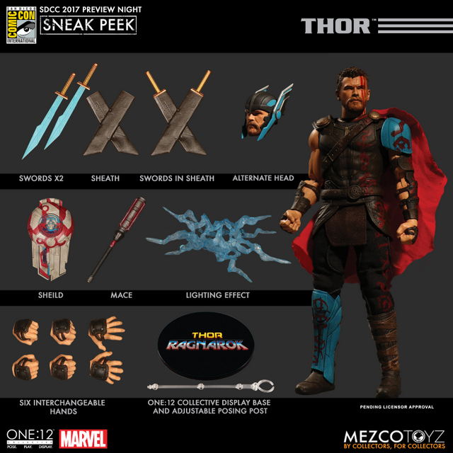 Mezco Toyz SDCC 2017 Preview Night One 12 Thor Ragnarok accessories