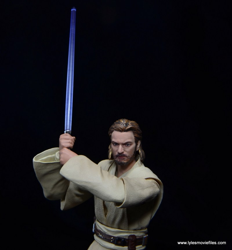 SHFiguarts Star Wars Obi-Wan Kenobi figure review -raising lightsaber